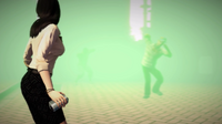 Zombie approaching Rebecca