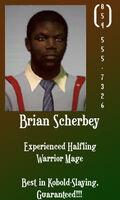 Brian Scherbey business card