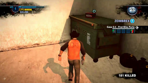 Dead rising 2 case 0 battery on dumpster (2)