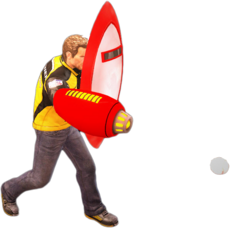 Dead rising protoman blaster and shield main