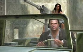 Frank & Isabela in jeep