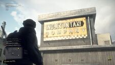 Taxi Company Sign