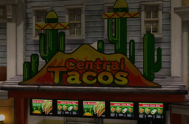 Central Tacos Sign with PP Sticker