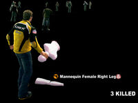 Dead rising Mannequin Female Right Leg name