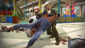 Dead Rising swining zombie in wonderland plaza destructoid com