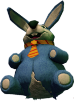 Dead rising Giant Stuffed Rabbit damaged