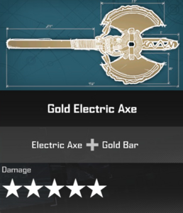 Golden Electric Axe DR4 Blueprint