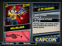 Dead rising 2 combo card Heliblade