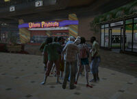 Dead rising hanging around mission zombies below