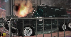 Dead rising destroyed armored van