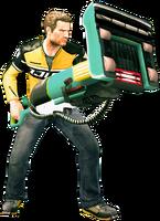 Dead rising vacuum cleaner holding