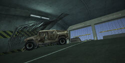 Dead rising underground vehicle entrance case 7-3 crashed military SUV