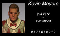 Kevin Meyers business card