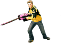 Dead rising giant pink chainsaw combo