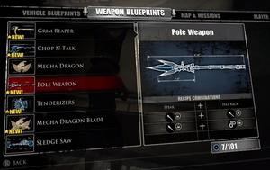 Pole Weapon Blueprint