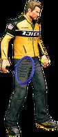 Dead rising tennis racquet holding