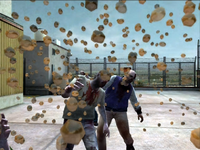 Dead rising zombies hit with dog food