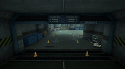 Dead rising Warehouse D sign freight bay storage bay