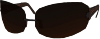 Dead rising Silver Wire-Frame Dark-tinted Glasses