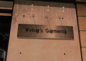 Weber's Garments Sign