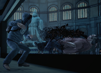 Dead rising Looters beating zombie