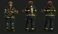 Dead rising 2 Off the Record concept art from main menu art page DLC downloadable content clothing firefighter