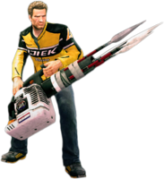 Dead rising spear launcher holding