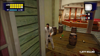 Dead rising wine food court next to wine caskets