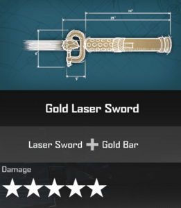 Gold Laser Sword DR4 Blueprint
