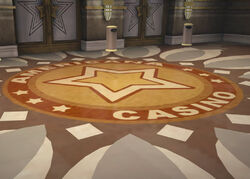 Dead rising AMERICANA CASINO ENTRANCE flooring emblem platinum strip