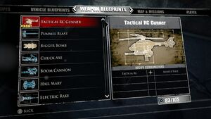 Tactical RC Gunner Blueprints