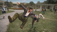 Dead rising leisure park face plant on zombie