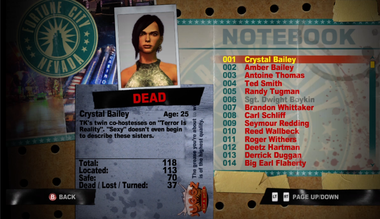 crystal dead rising watchtower