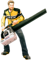 Dead rising leaf blower holding