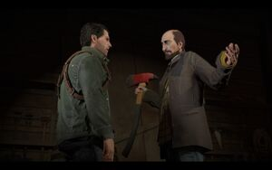 Frank talks to Tom