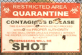 Dead Rising 2 Case Zero Quarantine Zone sign.png