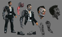 Dead rising 2 Off the Record concept art from main menu art page DLC downloadable content clothing cyborg