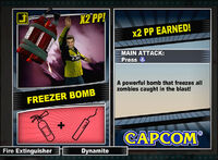 Dead rising 2 combo card Freezer Bomb
