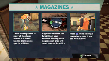 Dead rising 2 case 0 magazine info screen
