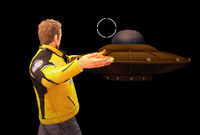 Dead rising giant spaceship toy throwing