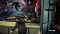 Uranus zone carnival games one eyed aliens hit by zombie hand --THROWING