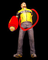Dead rising protoman blaster and shield holding error (2)