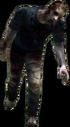 Dead rising zombie severe head wound