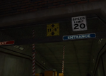 Maintenance Tunnels Entrance PP Sticker