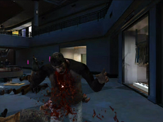 Dead rising queen zombie throwing up blood