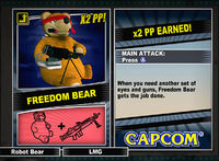 Dead rising 2 combo card Freedom Bear