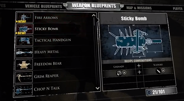 Image sticky bomb blueprintg dead rising wiki fandom filesticky bomb blueprintg malvernweather Choice Image