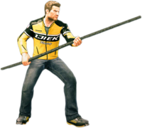 Dead rising long stick holding