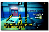 Blazing aces tennis raquet location