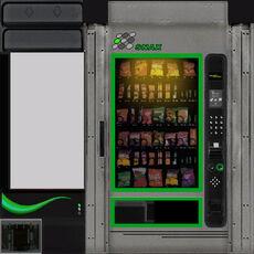 Vendingmachine green texture